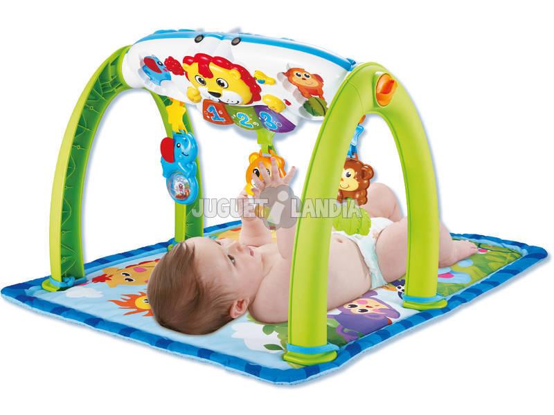 Brinquedo Para Bebé Manta Ginásio Musical Atividades Selva 5 em 1 Com Projetor 0 - 4 anos