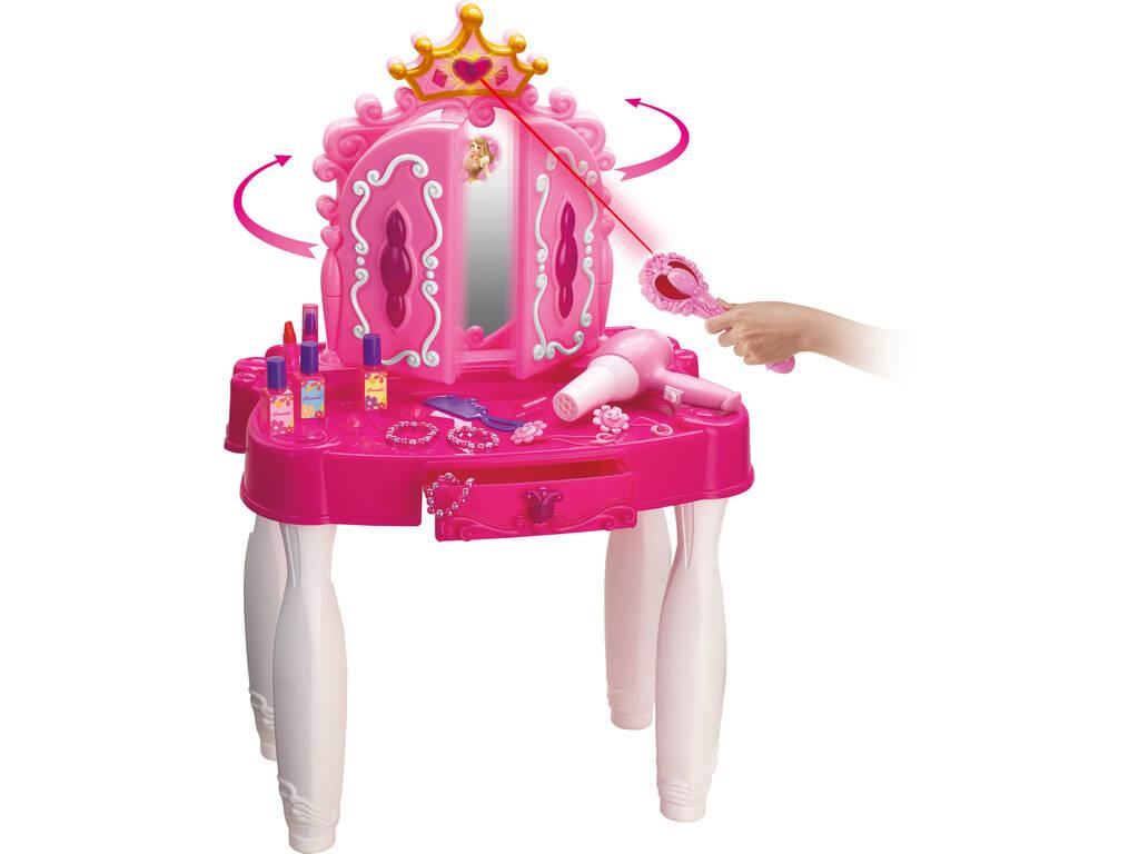 acheter coiffeuse princesses coeurs avec accessoires et connexion mp3 71x49x29cm juguetilandia. Black Bedroom Furniture Sets. Home Design Ideas