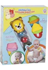Baby Spielzeug Set Sonajeto und 3 Beißringe Assorted 22x7x7cm 0-4 Jahre