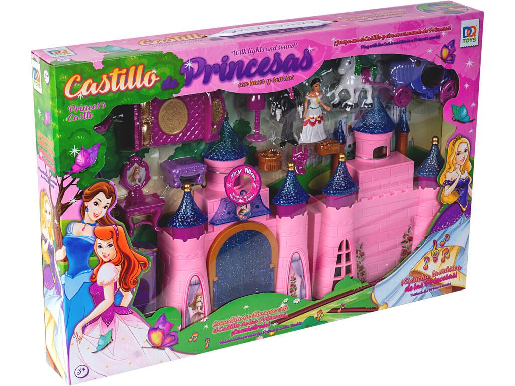 Castelo de Princesas Com Luzes Sons e Acessórios 24x33x5cm