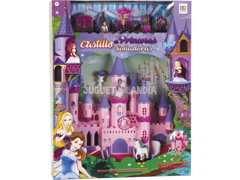 Castelo de Princesas Sonhadoras Com Luzes Sons e Acessórios 37x34x11cm