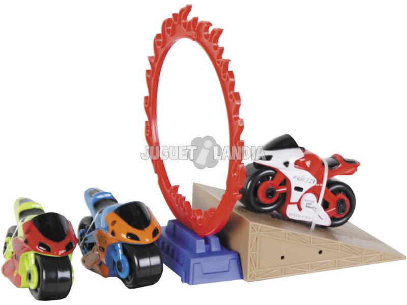 Veicoli Rally Con Rampa 3 Motociclette Con Accessori 9 cm