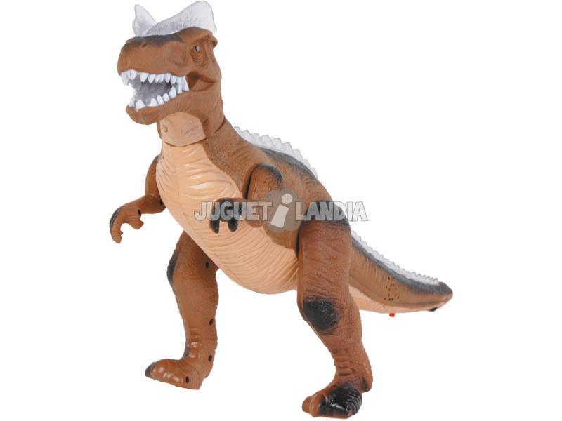 Dinosaurio Andador Marrón 36 CM.
