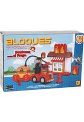 imagen Juego de Construcción Bombero Contra el Fuego Bloques 30 Piezas