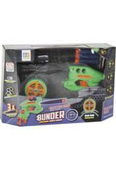 Radio Control Dron Con Luces y Lanzadardos Bunder Con 3 Dardos Teledirigido