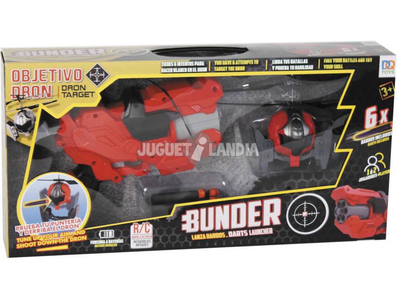 Radio Control Dron Con Lanzadardos Bunder y 6 Dardos