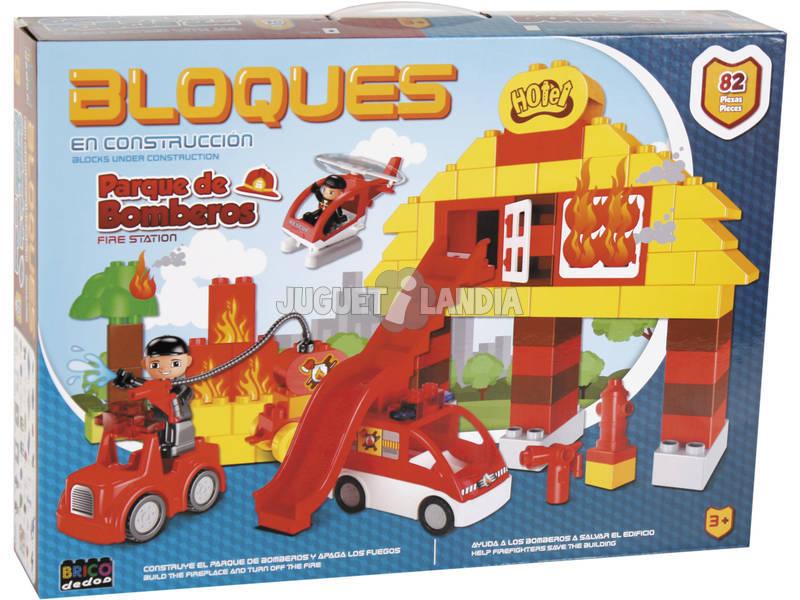 Estación Bomberos 82 piezas Bloques Construcción