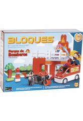 imagen Parque de Bomberos 47 piezas Bloques Construccion