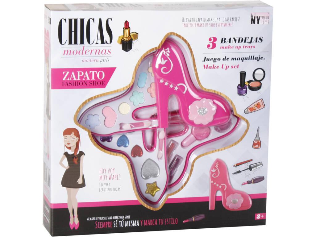 Kit Maquilhagem Sapato 3 Bandejas 14x11.5x5 cm