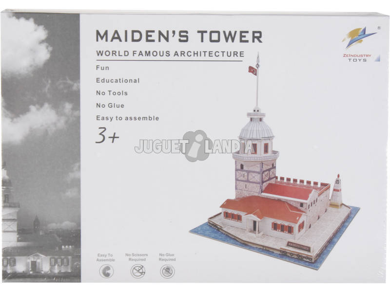 Puzzle 3D Maiden's Tower 46 pezzi