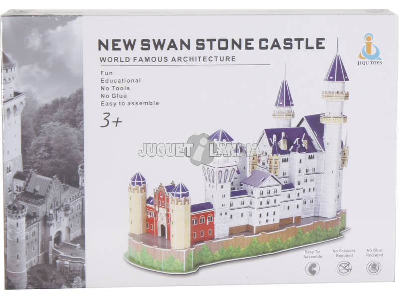 Puzzle 3D Castelo de Neuschwanstein 98 peças
