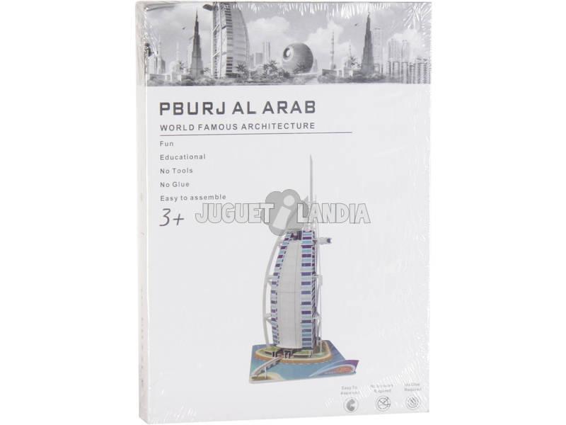 Puzzle 3D Burj Al Arab 74 peças