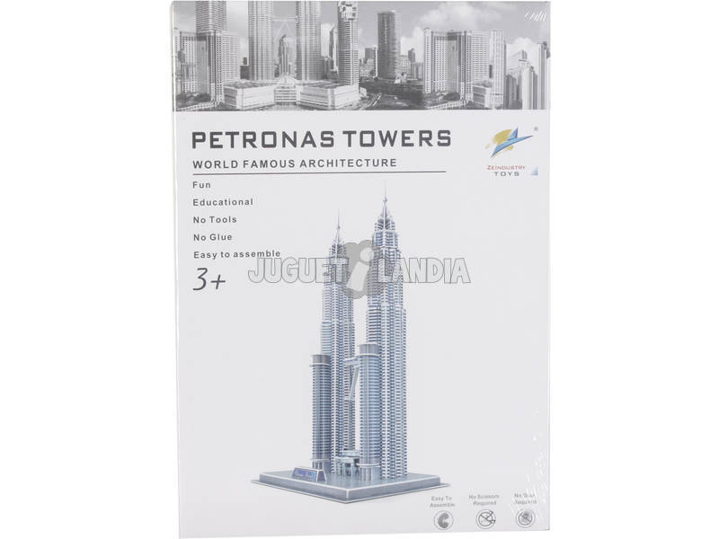 Puzzle 3D Petronas Twin Tower 85 pezzi