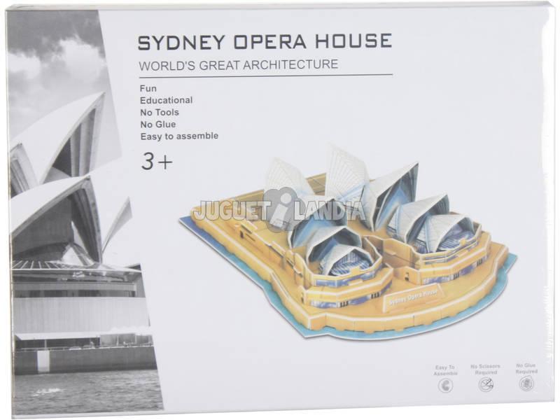 Puzzle 3D Casa da Ópera Sidney 34 Peças 8.5x24.5x18cm