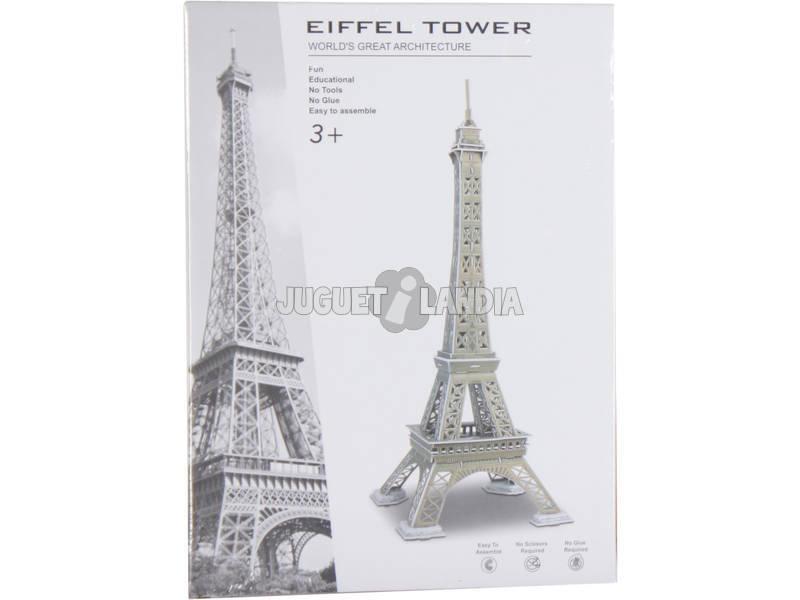 Puzzle 3D Torre Eiffel 51 Peças 47.3x18.2x18.2cm