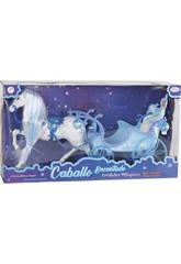 Cavallo Magico con Carrozza Blu 51 cm