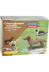 imagen Figura Animal Pastor Alemán Para Pintar con Accesorios 16x24x4.5cm