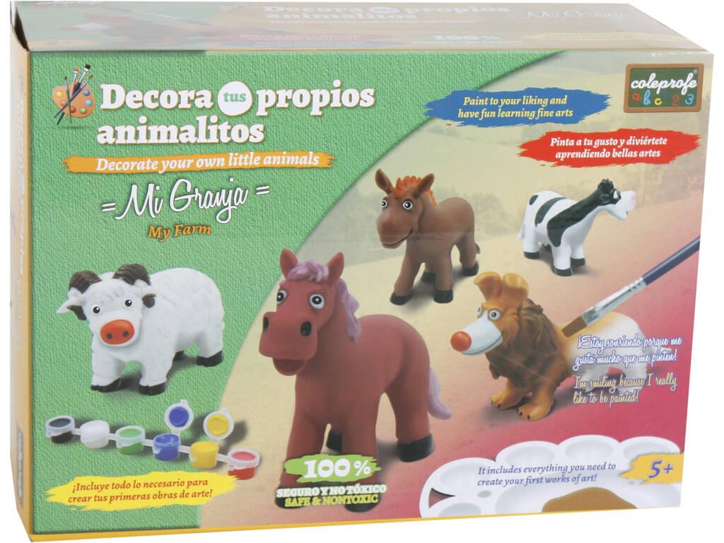 Figura Animal Vaca Para Pintar Com Acessórios 12x17x8cm