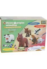 Figura Animal Vaca Para Pintar Con Accesorios 12x17x8cm
