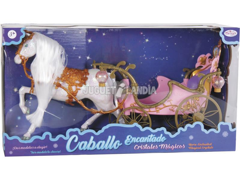 Cavallo Magico Criniera con Carrozza Rosa