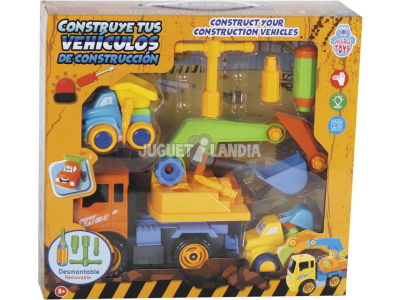 Constrói Os Teus Veículos de Construção 28x17 cm Cor Laranja