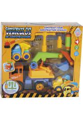 Construye Tus Vehículos de Construcción 28x17 cm Color Naranja