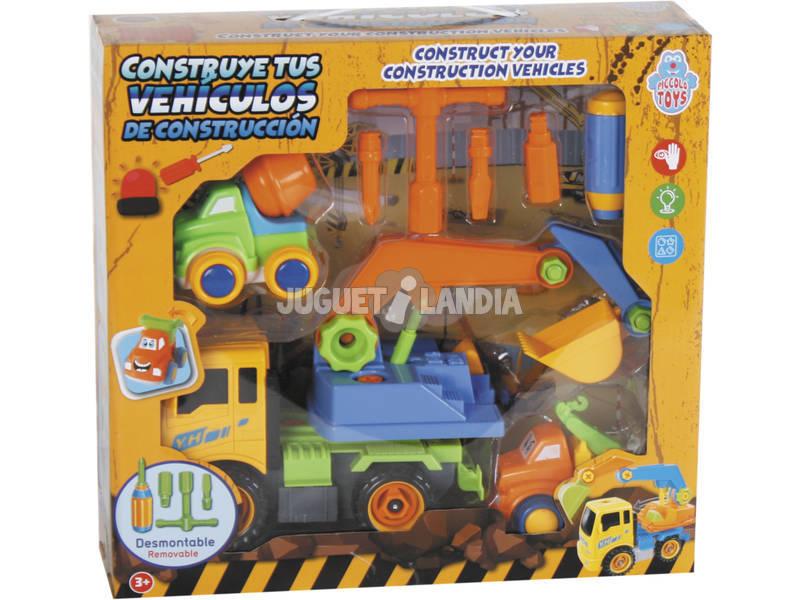 Constrói Os Teus Veículos de Construção 28x17 cm Cor Amarelo