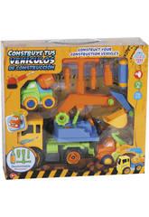 Construye Tus Vehículos de Construcción 28x17 cm Color Amarillo