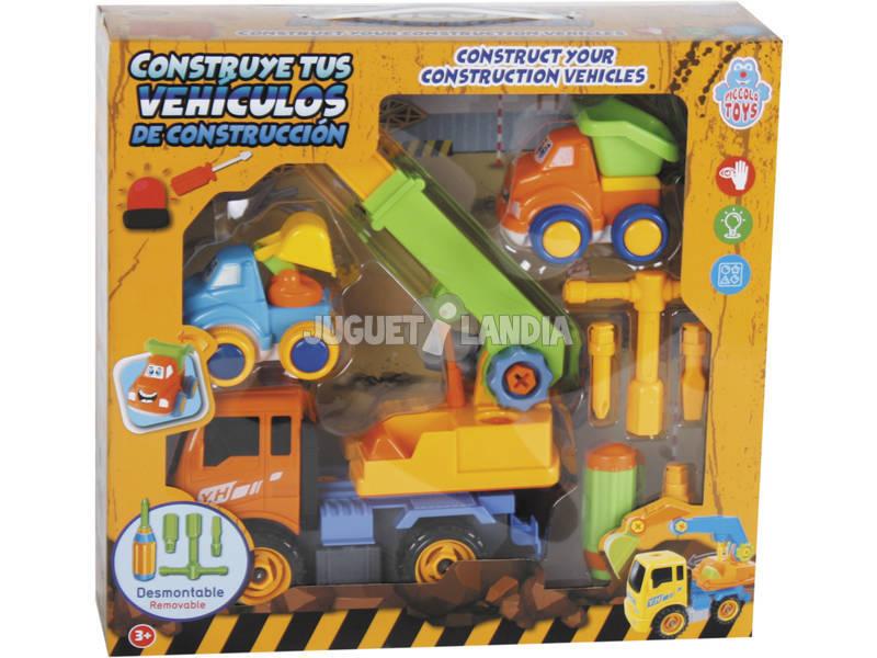 Constrói Os Teus Veículos de Construção 27x20 cm Cor Laranja