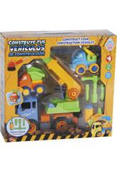 Construisez Vos véhicules de Construction 27 x 20 cm Couleur Bleu