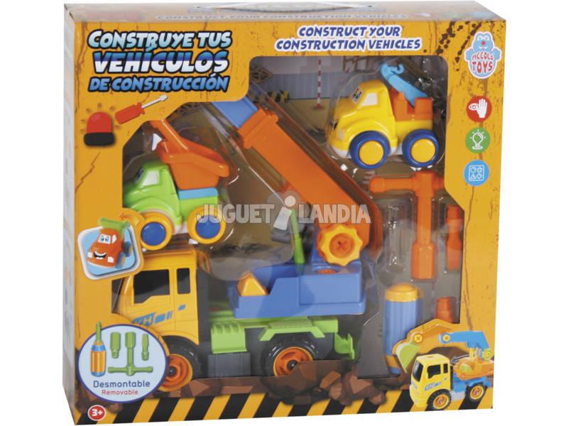Constrói Os Teus Veículos de Construção 27x20 cm Cor Amarelo