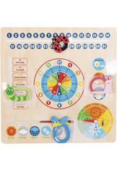 Reloj Calendario de Madera 30.5x30.5x2cm