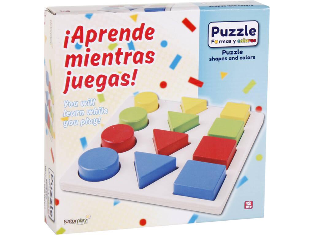 Puzzle in Legno Forme 12 pezzi 20x20x1,5 cm