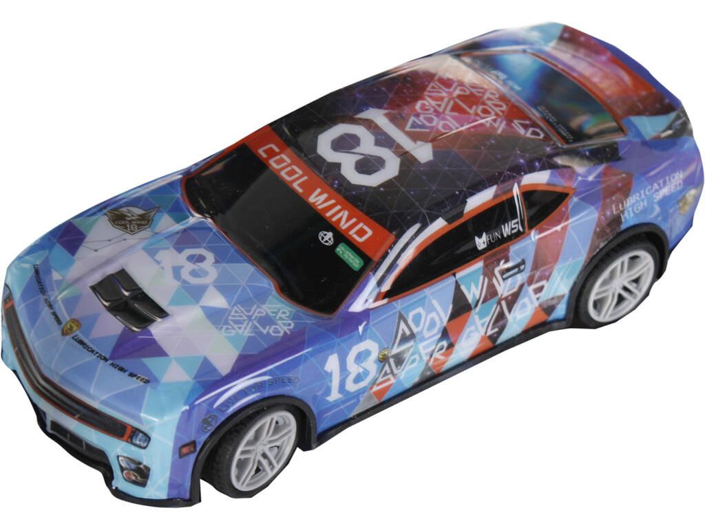 Coche Racing Radio Control Cool Wind Rombos Número 18 6x18x8 cm Teledirigido