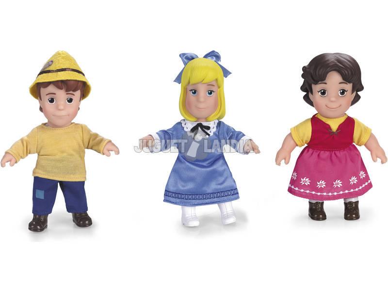 Pack Heidi, Pedro e Clara Figuras 17 cm.