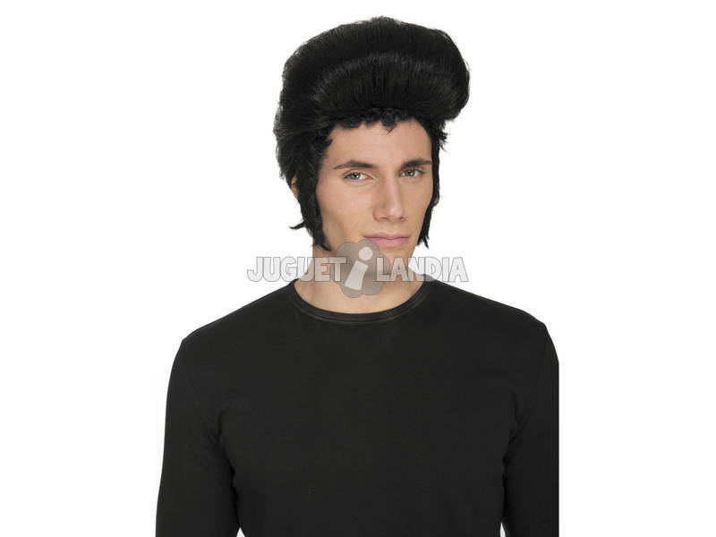 Parrucca castana Elvis
