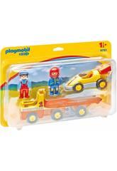 Playmobil 1,2,3 Voiture de Courses avec Camion 6761