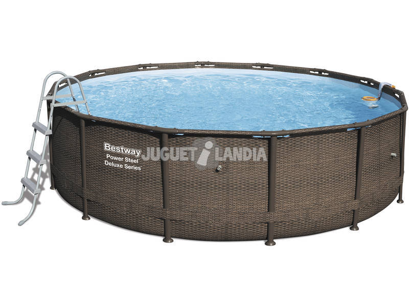Piscina Fuori Terra 427x107 cm Power Steel Rattan Bestway 56664