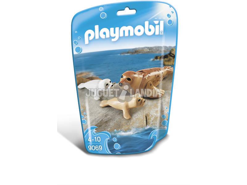Playmobil Foca Com Bebês 9069