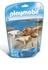 imagen Playmobil Foca Con Bebés 9069