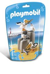 Playmobil Famiglia di Pellicani 9070