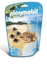 imagen Playmobil Tortuga Con Bebés 9071