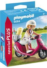 imagen Playmobil Mujer Con Scooter 9084
