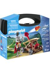 Playmobil Valisette Chevalier et Catapulte 9106