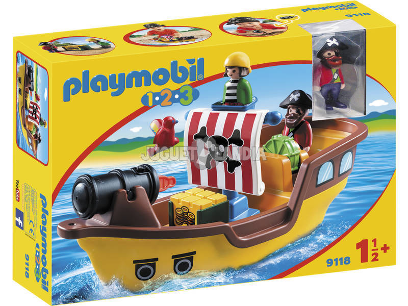 Playmobil 1,2,3 Navio Pirata 9118