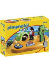 Playmobil 1.2.3 Isola dei Pirati 9119