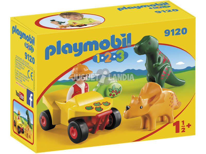 Playmobil 1,2,3 Quad com 2 dinossauros 9120