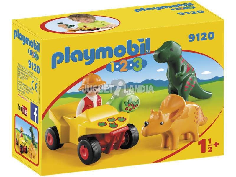 Playmobil 1.2.3 Esploratore con Dinosauri 1.2.3 9120