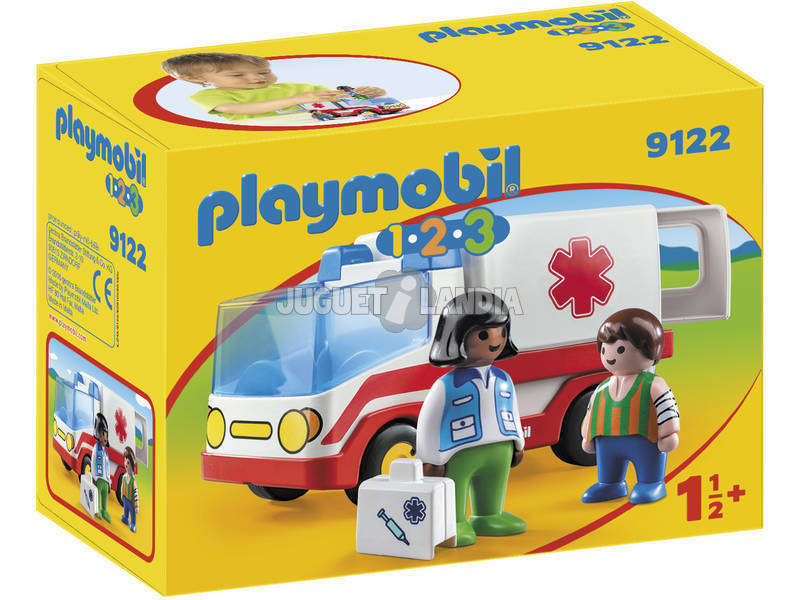 Playmobil 1.2.3 Ambulanza1.1.2.3. 9122