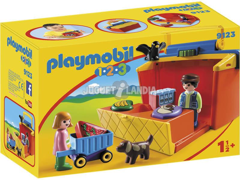 Playmobil 1,2,3 Mercado Pasta 9123